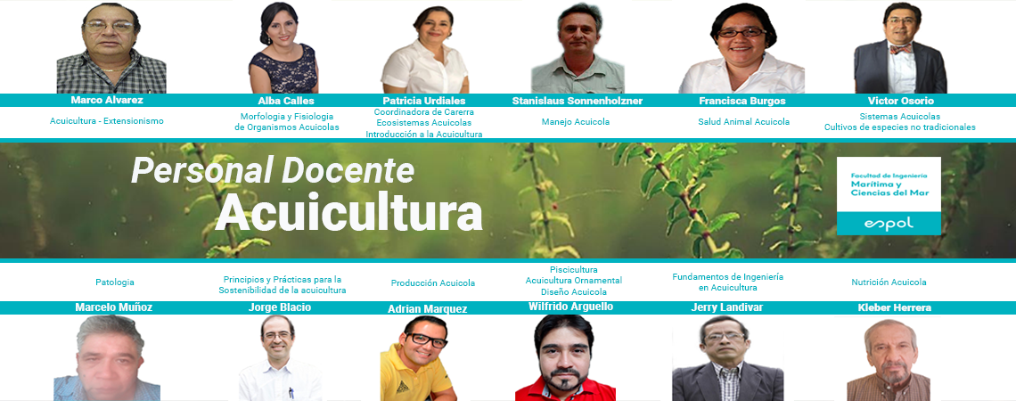 Personal Docente Acuicultura